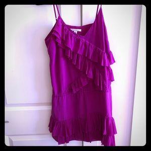Silk ruffled sundress